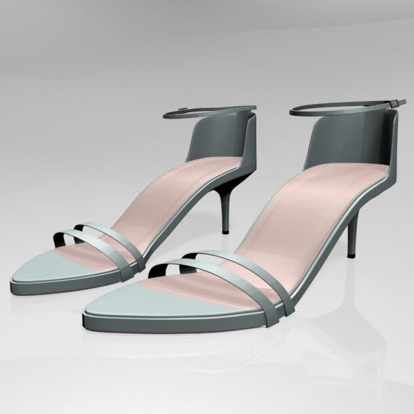 Pointy-Toe Ankle-Strap High-Heel Sandals 02