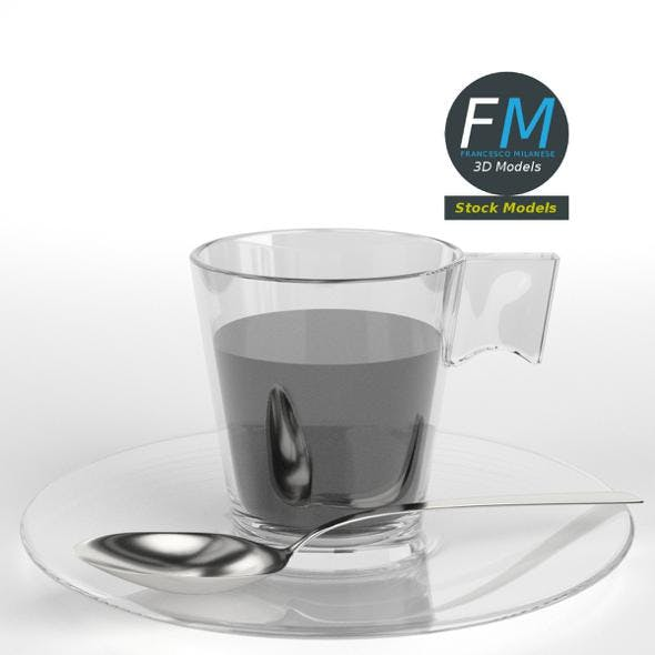 Coffee in glass cup - 3DOcean Item for Sale