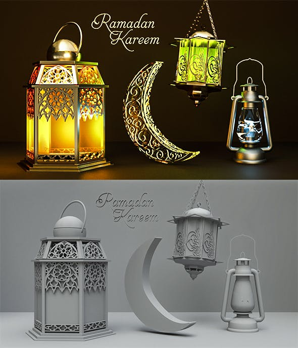 Ramadan Kareem PACK v2 - 3DOcean Item for Sale