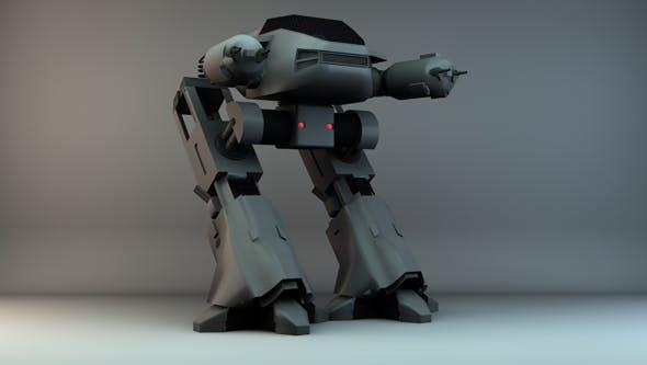 Robocop: ED-209 - 3DOcean Item for Sale