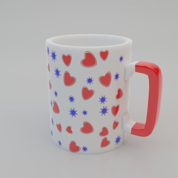 Mug with a pattern Low-poly