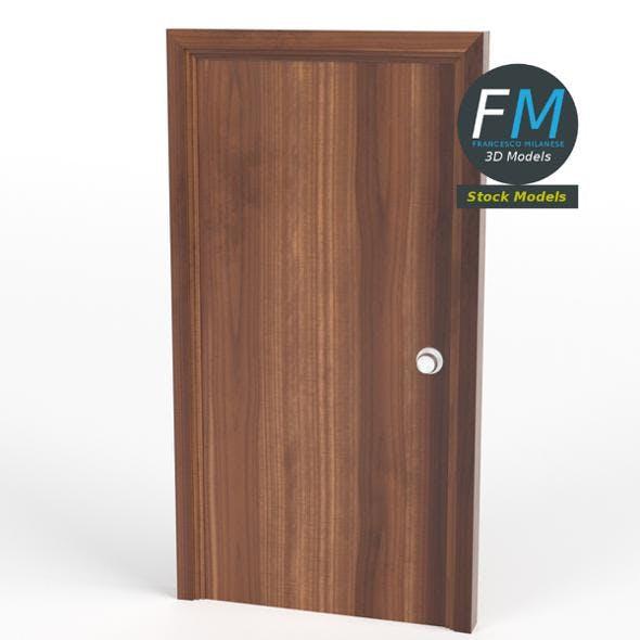 Flush door with frame