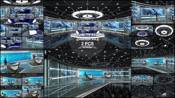 Virtual TV Studio Collection Vol 6 - 2 PCS DESIGN - 3DOcean Item for Sale