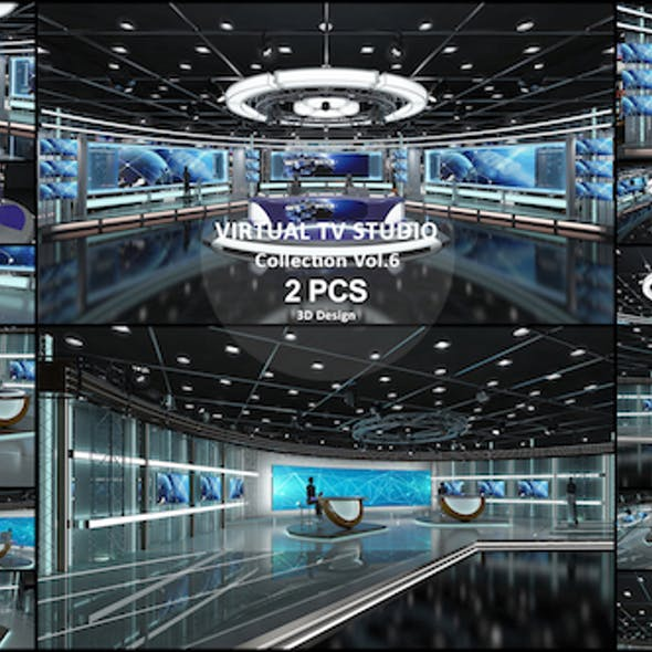 Virtual TV Studio Collection Vol 6 - 2 PCS DESIGN