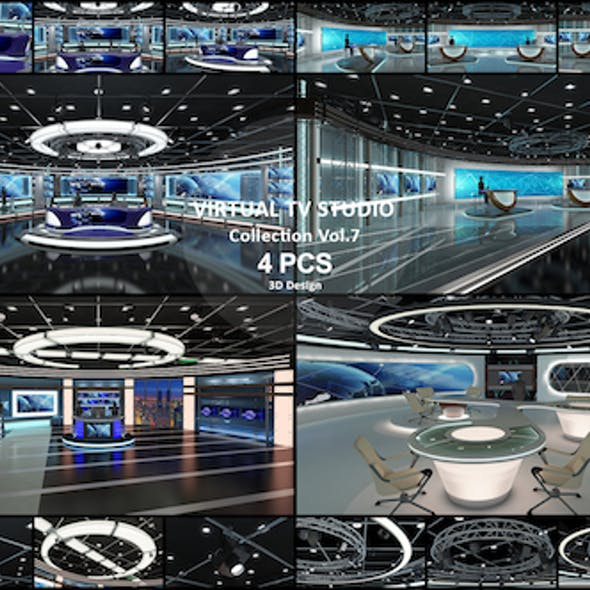 Virtual TV Studio Collection Vol 7 - 4 PCS DESIGN