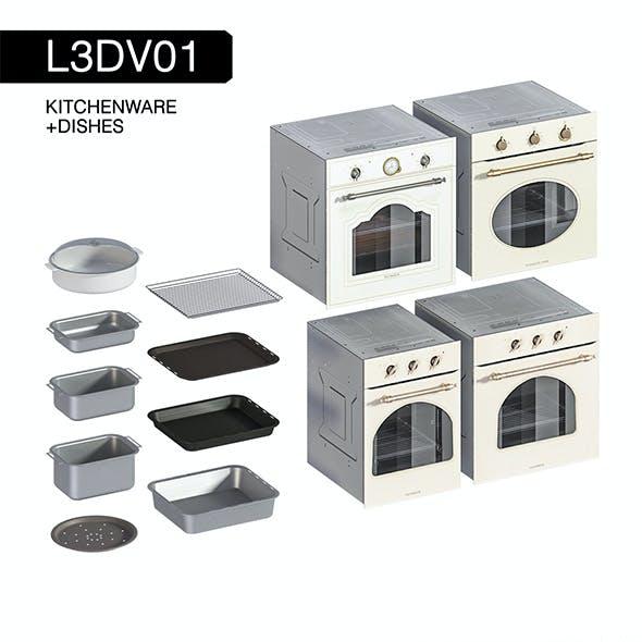 L3DV01G10 - kitchen ovens pallets forms set