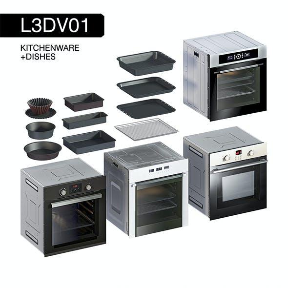L3DV01G09 - kitchen ovens pallets forms set