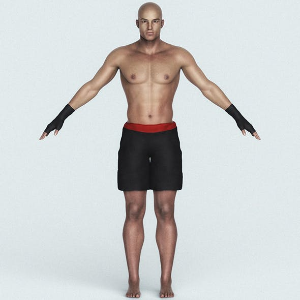 Male Street Fighter 3D Character - 3DOcean Item for Sale