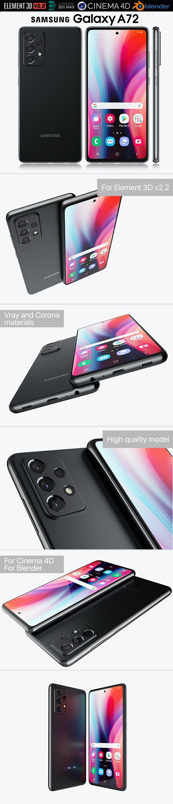 Samsung Galaxy A72 - 3DOcean Item for Sale