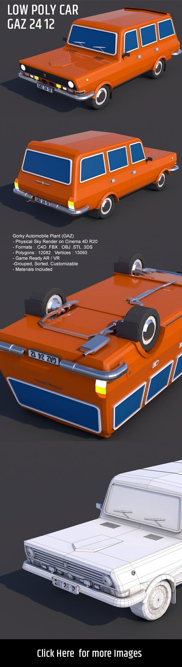 Gaz 24 12 Low Poly 3D Car Model 3D model - 3DOcean Item for Sale