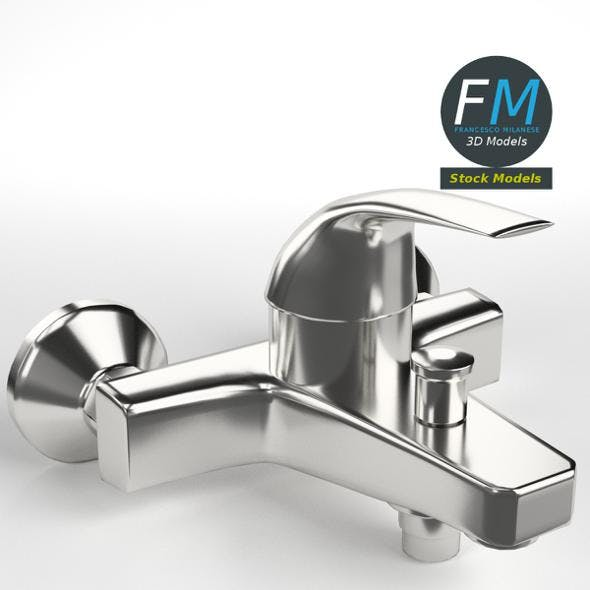 Faucet single lever wall mixer - 3DOcean Item for Sale