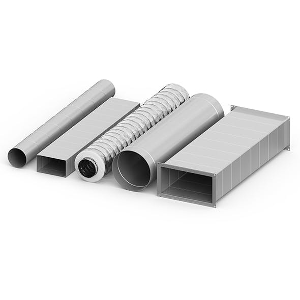 Air ducts 5 models - 3DOcean Item for Sale