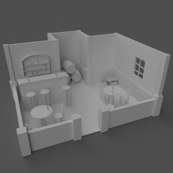 Low-poly tavern location - 3DOcean Item for Sale