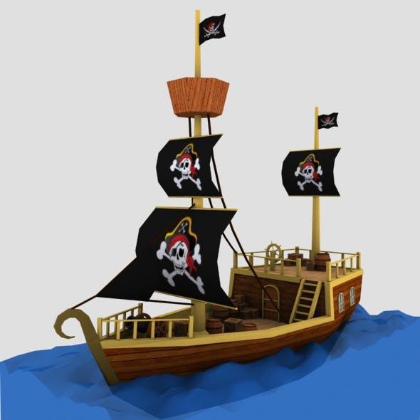 Pirate Ship on Ocean