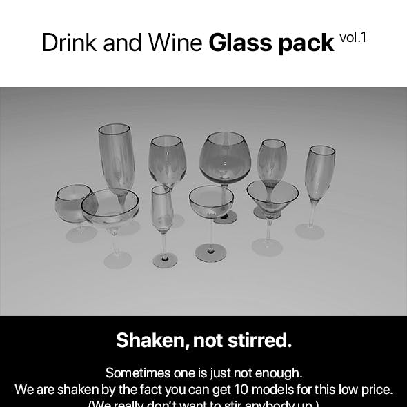 Drink and Wine Glass Pack vol.1