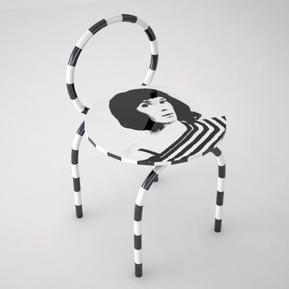 Optical Ceramic Chair