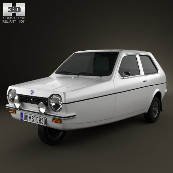 Reliant Robin 1973 - 3DOcean Item for Sale