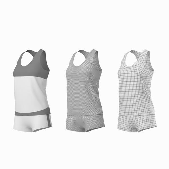 Woman Sportswear 03 Base Mesh Design Kit - 3DOcean Item for Sale