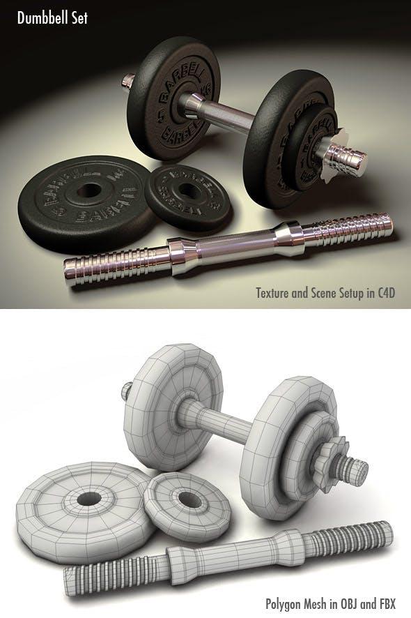 Dumbbell Set - 3DOcean Item for Sale