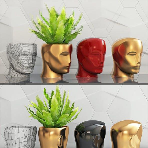 Oscar head piggy bank vase