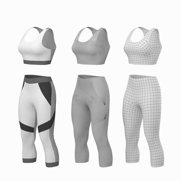 Woman Sportswear 05 Base Mesh Design Kit - 3DOcean Item for Sale