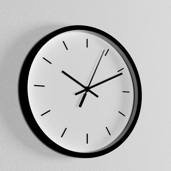 Wall clock minimalism