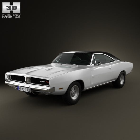 Dodge Charger RT 1969 - 3DOcean Item for Sale