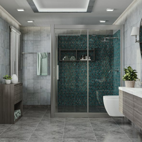 Bathroom Scene and Fixtures Collection