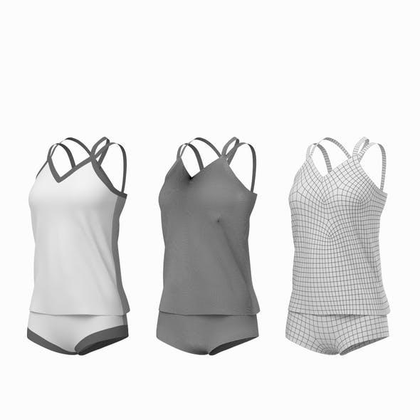 Woman Sportswear 07 Base Mesh Design Kit - 3DOcean Item for Sale