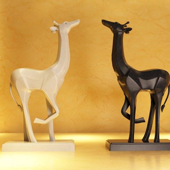 Giraffes ornaments crafts animal models
