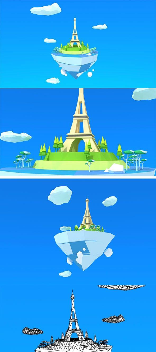 Paris Island Low Poly - 3DOcean Item for Sale