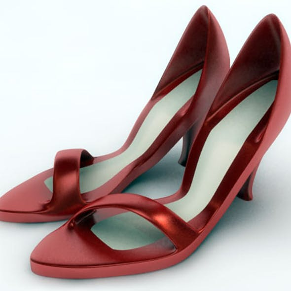 Ladies Sandal / 3Ds Max