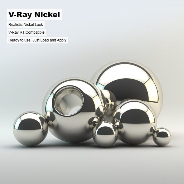 V-Ray Nickel Material