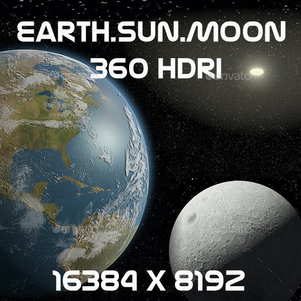 Earth Moon Sun 16K HDRI