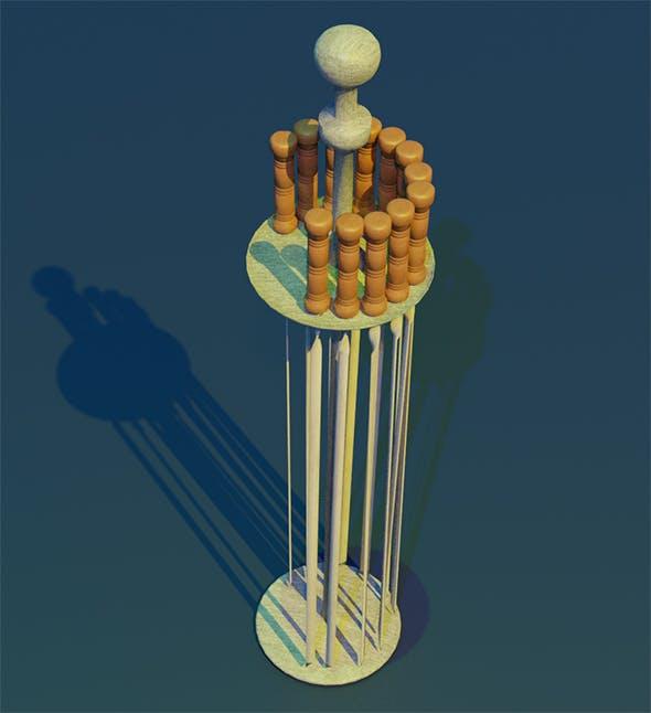 Skewer Low-poly 3D model - 3DOcean Item for Sale
