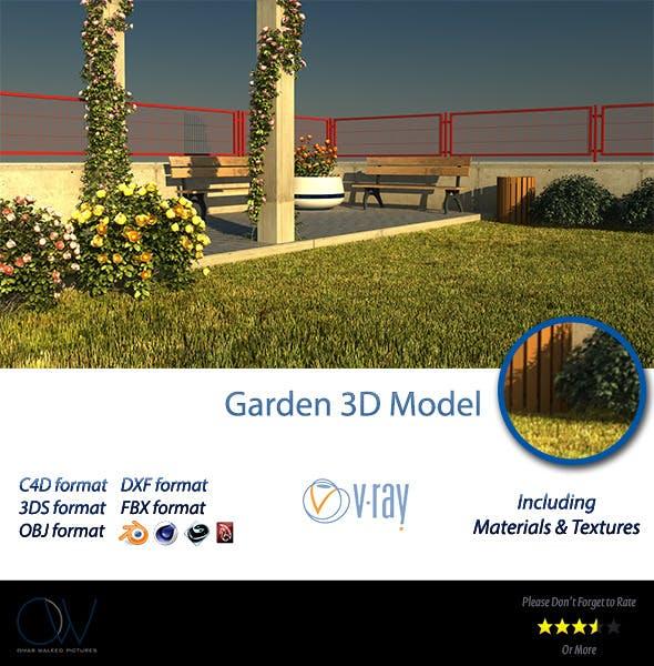 Public Garden - 3DOcean Item for Sale