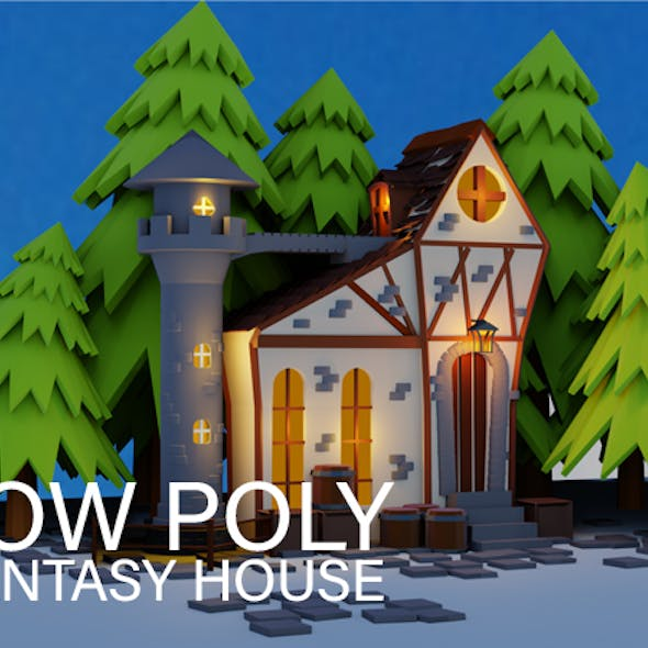 Low poly fantasy house