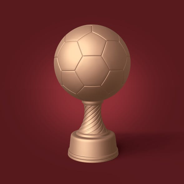 Soccer Trophy - Ready for 3D Printing