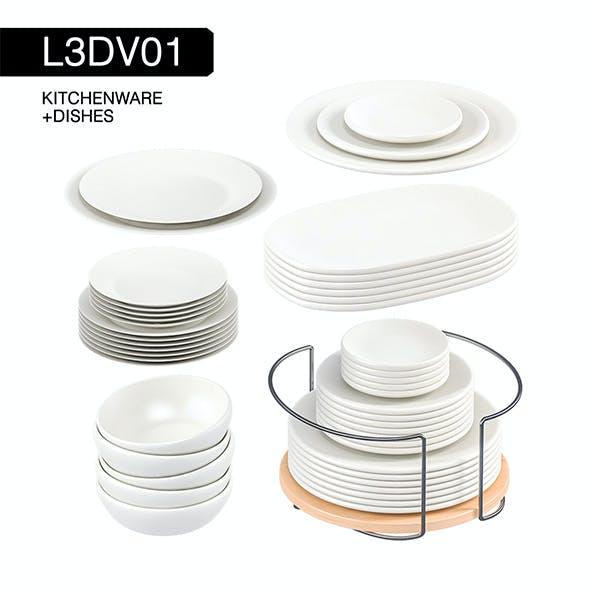 L3DV01G01 - kitchen dishes set