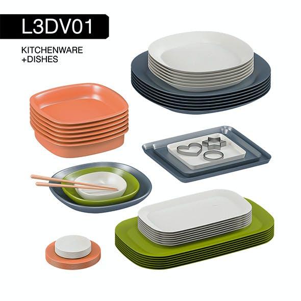 L3DV01G02 - kitchen dishes set