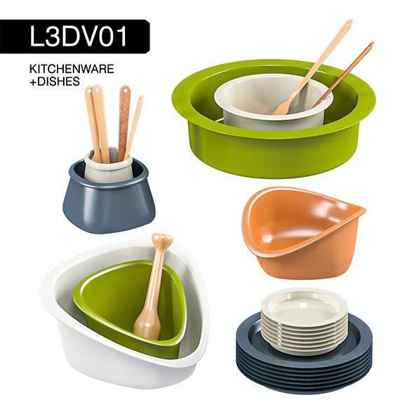 L3DV01G03 - kitchen dishes set