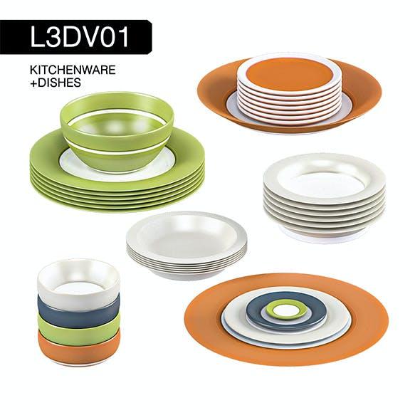 L3DV01G05 - kitchen dishes set