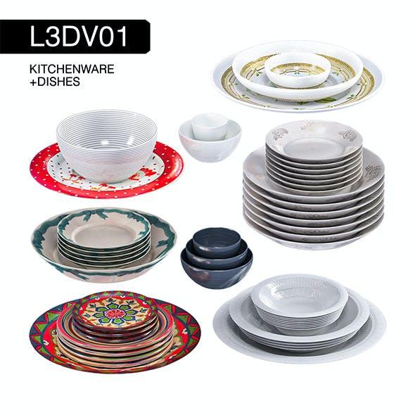 L3DV01G06 - kitchen dishes set