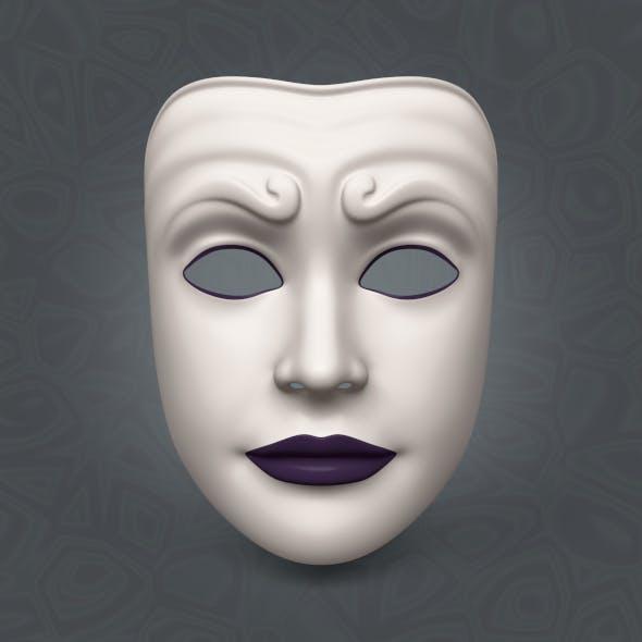 Woman Mardi Gras Mask