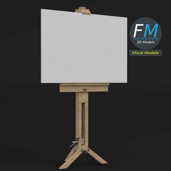 Drawing canvas on tripod