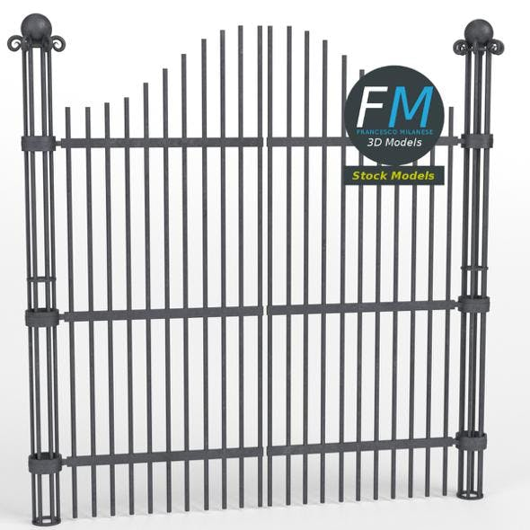 Iron gate 2 - 3DOcean Item for Sale