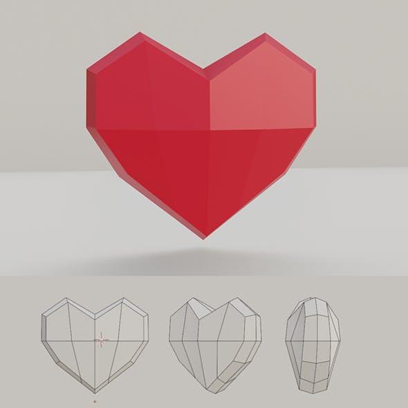 Low Poly Heart Base Mesh
