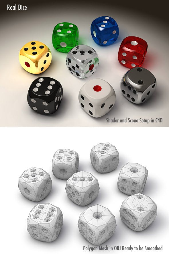 Real Dice - 3DOcean Item for Sale