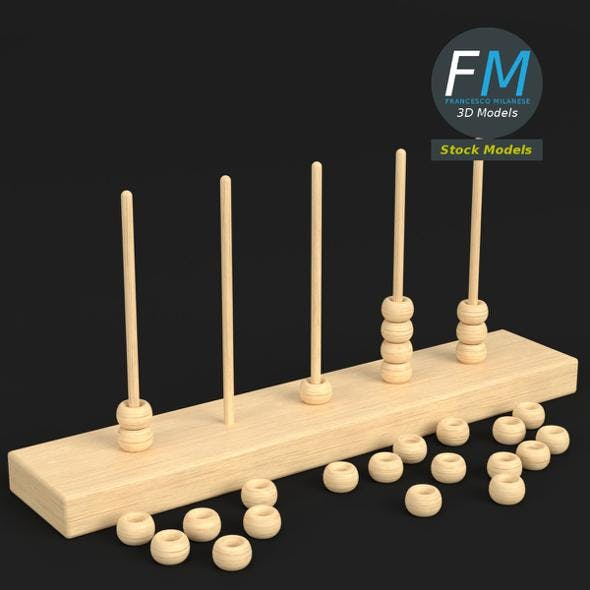 Vertical abacus toy