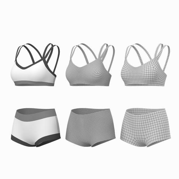 Woman Sportswear 08 Base Mesh Design Kit - 3DOcean Item for Sale